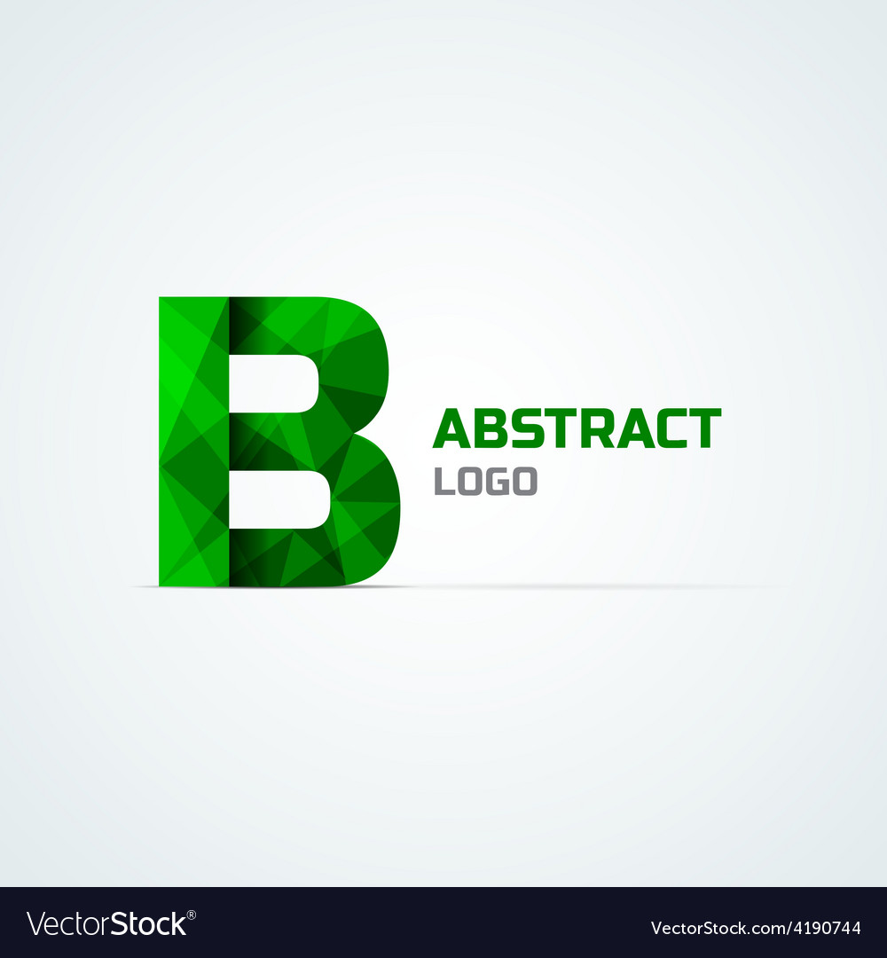 Letter b logo template vector | Price: 1 Credit (USD $1)