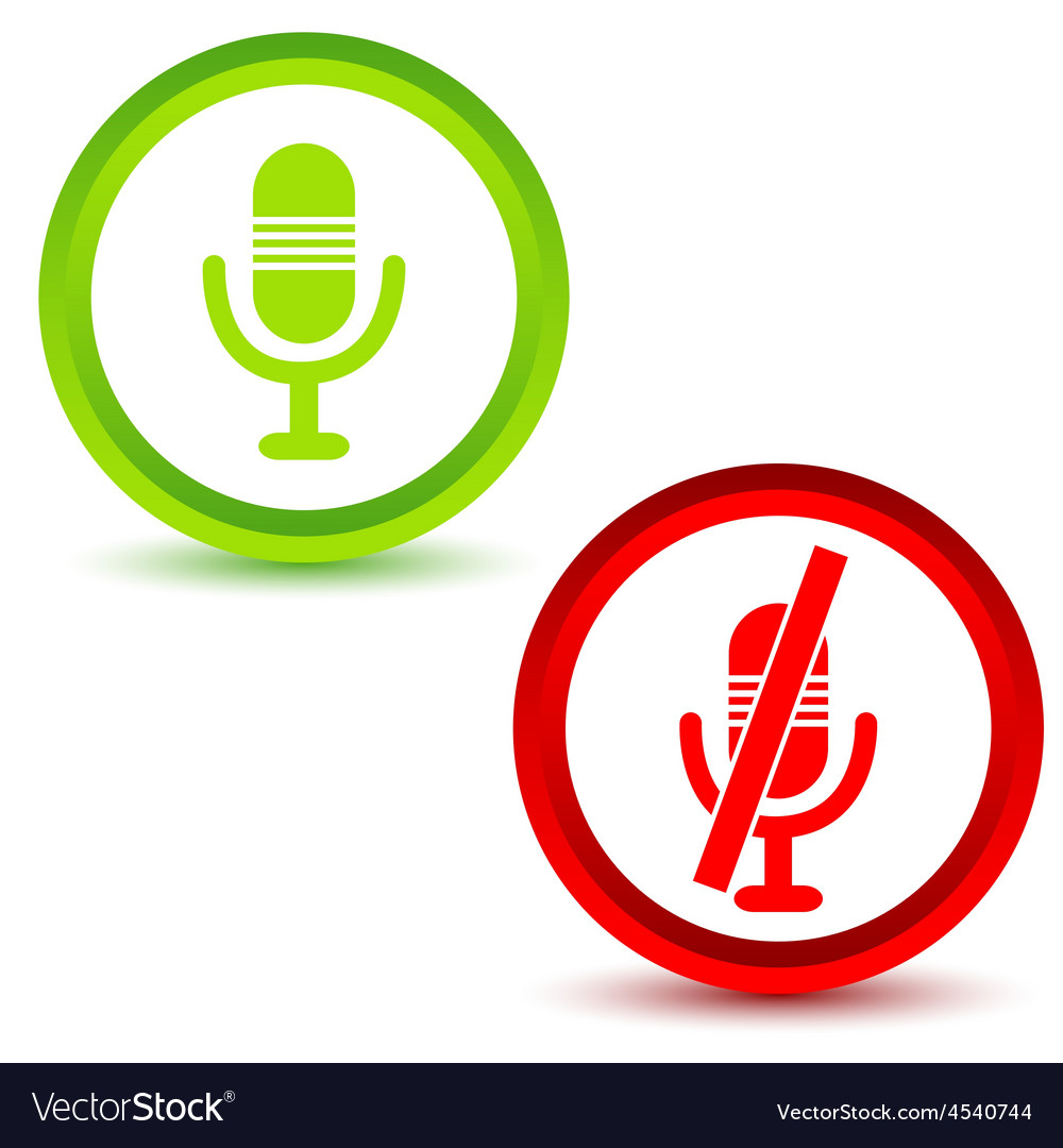 Microphone icon set vector | Price: 1 Credit (USD $1)