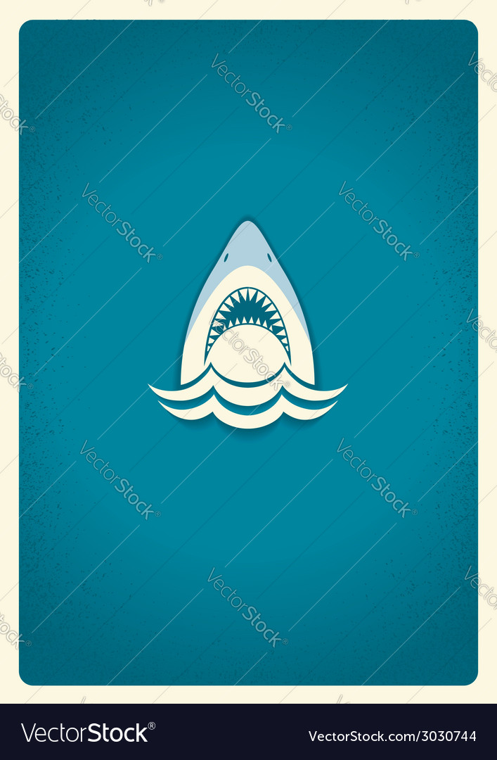 Shark jaws logo blue symbol vector | Price: 1 Credit (USD $1)