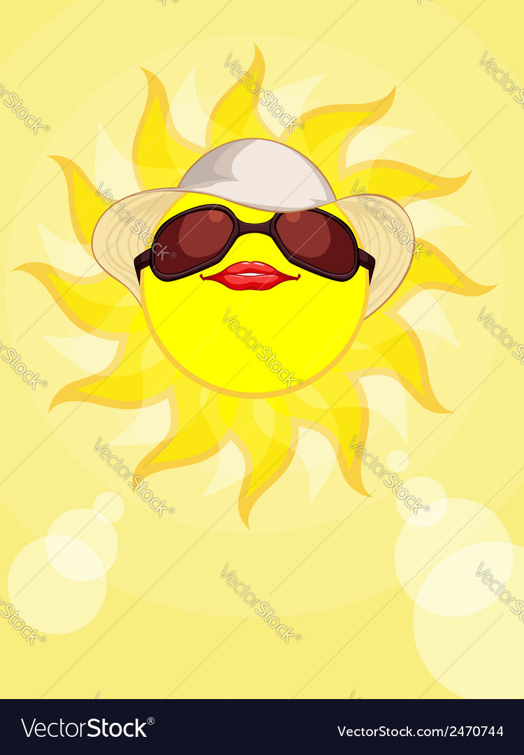 Sun summer holiday woman vector | Price: 1 Credit (USD $1)