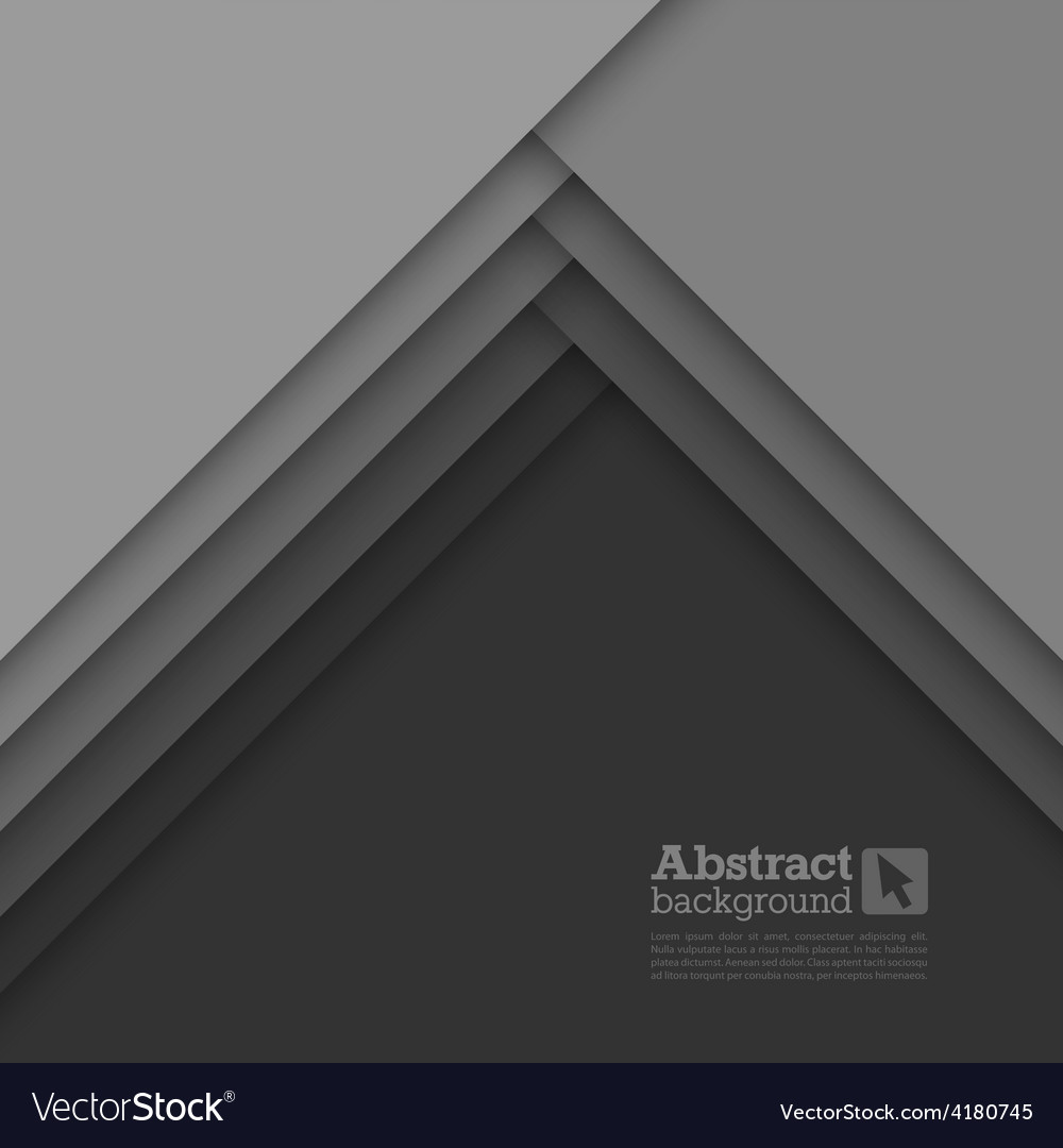 Abstract background with gray layers vector | Price: 1 Credit (USD $1)