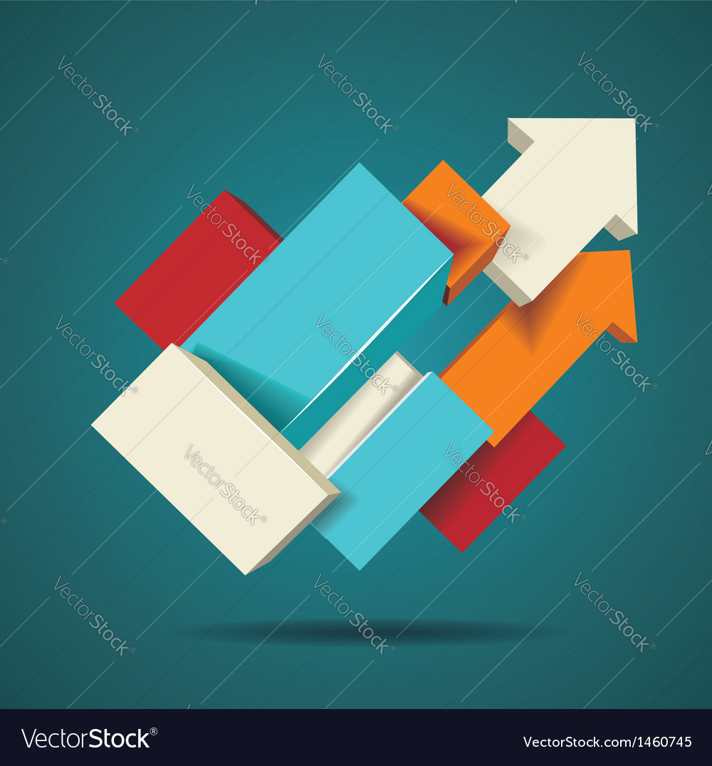 Abstract distortion from arrow shape background vector | Price: 1 Credit (USD $1)