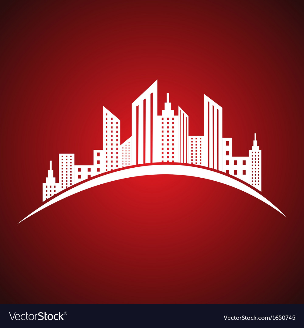 Abstract white real estate icon design vector   Price: 1 Credit (USD $1)