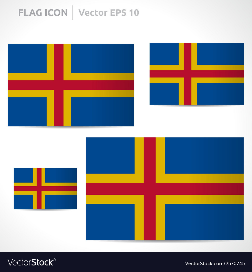 Aland islands flag template vector | Price: 1 Credit (USD $1)