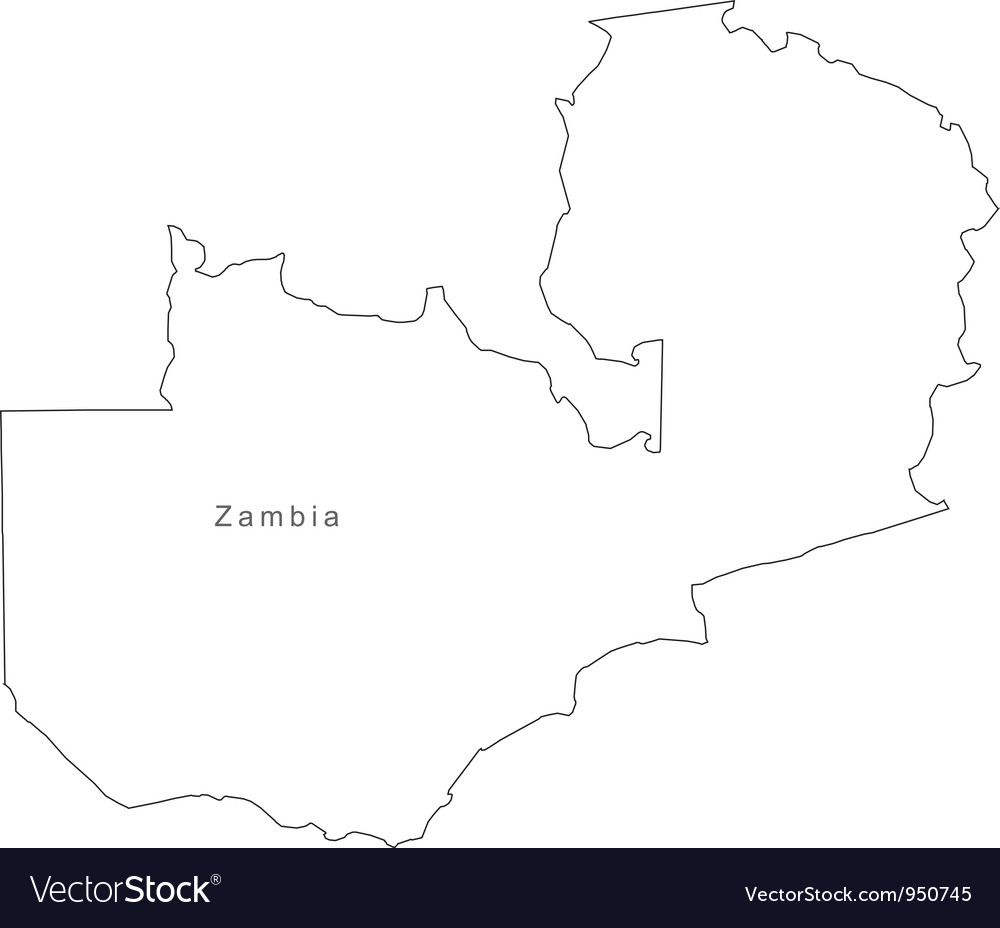 Black white zambia outline map vector   Price: 1 Credit (USD $1)