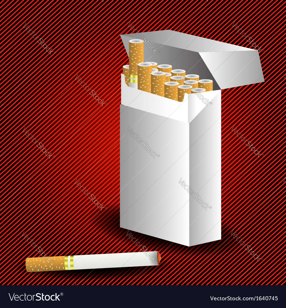 Cigarette pack vector | Price: 1 Credit (USD $1)