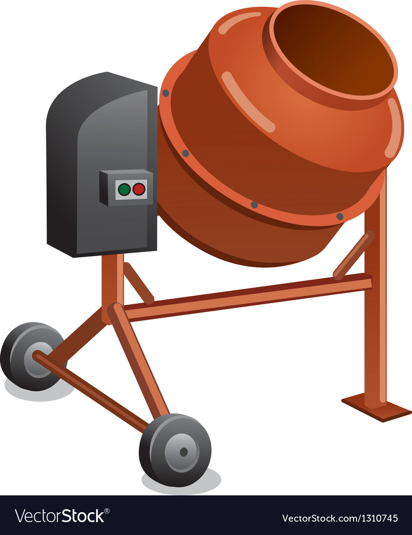 Concrete mixer vector | Price: 3 Credit (USD $3)