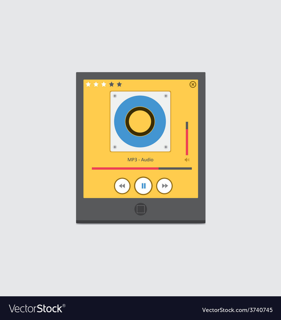 Music player 47 vector | Price: 1 Credit (USD $1)