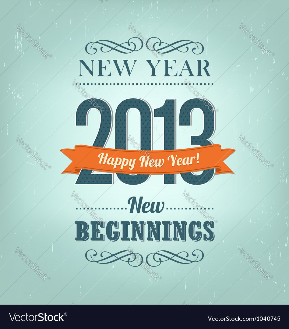 New year 2013 design vector | Price: 1 Credit (USD $1)