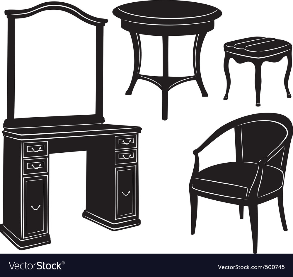 Retro furniture vector | Price: 1 Credit (USD $1)