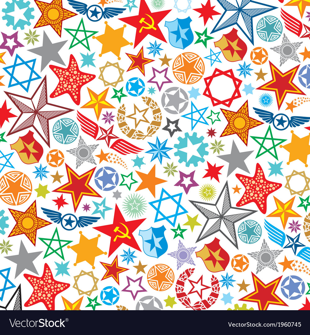 Seamless stars pattern star background vector | Price: 1 Credit (USD $1)