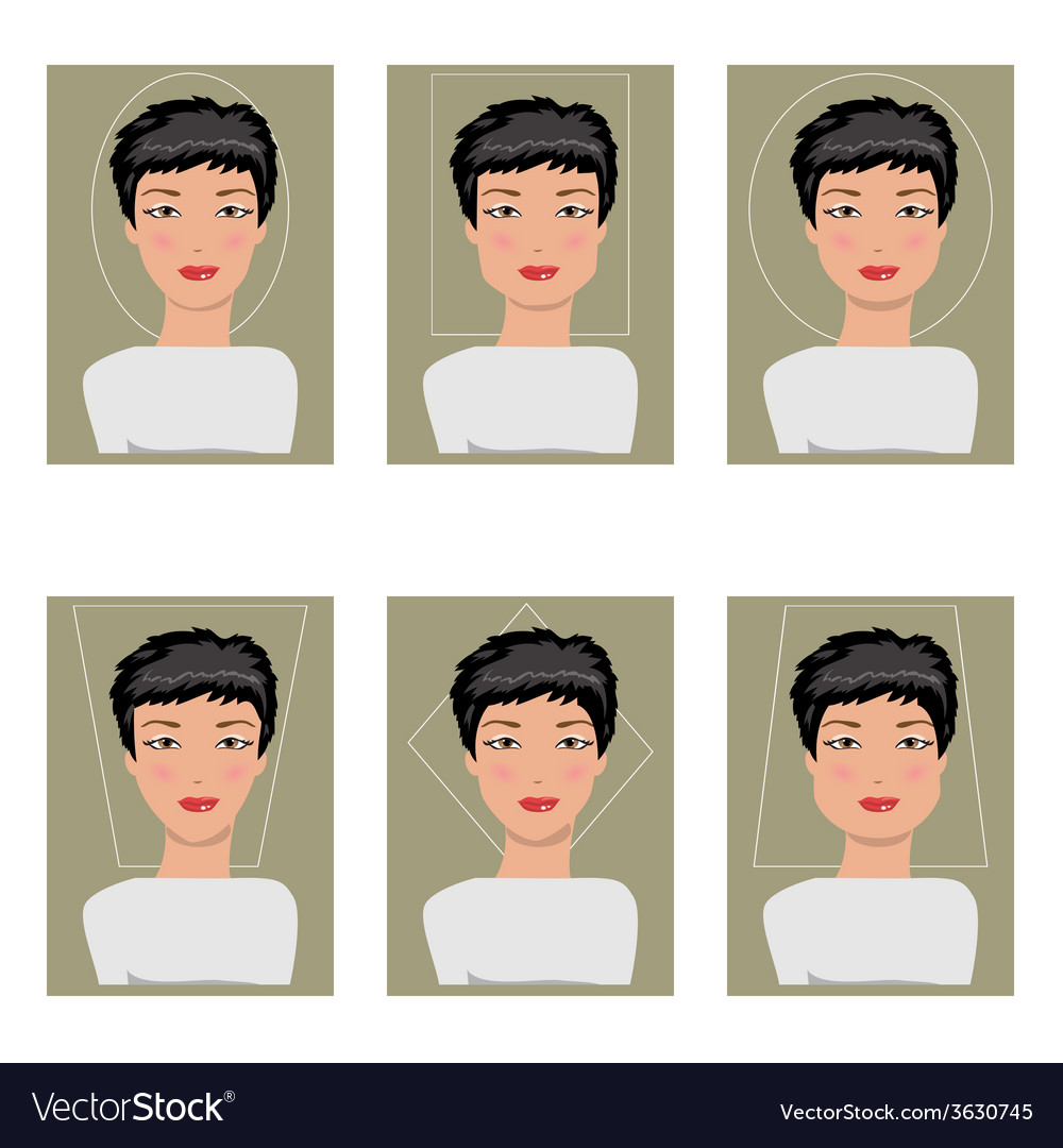 Women face types vector | Price: 1 Credit (USD $1)