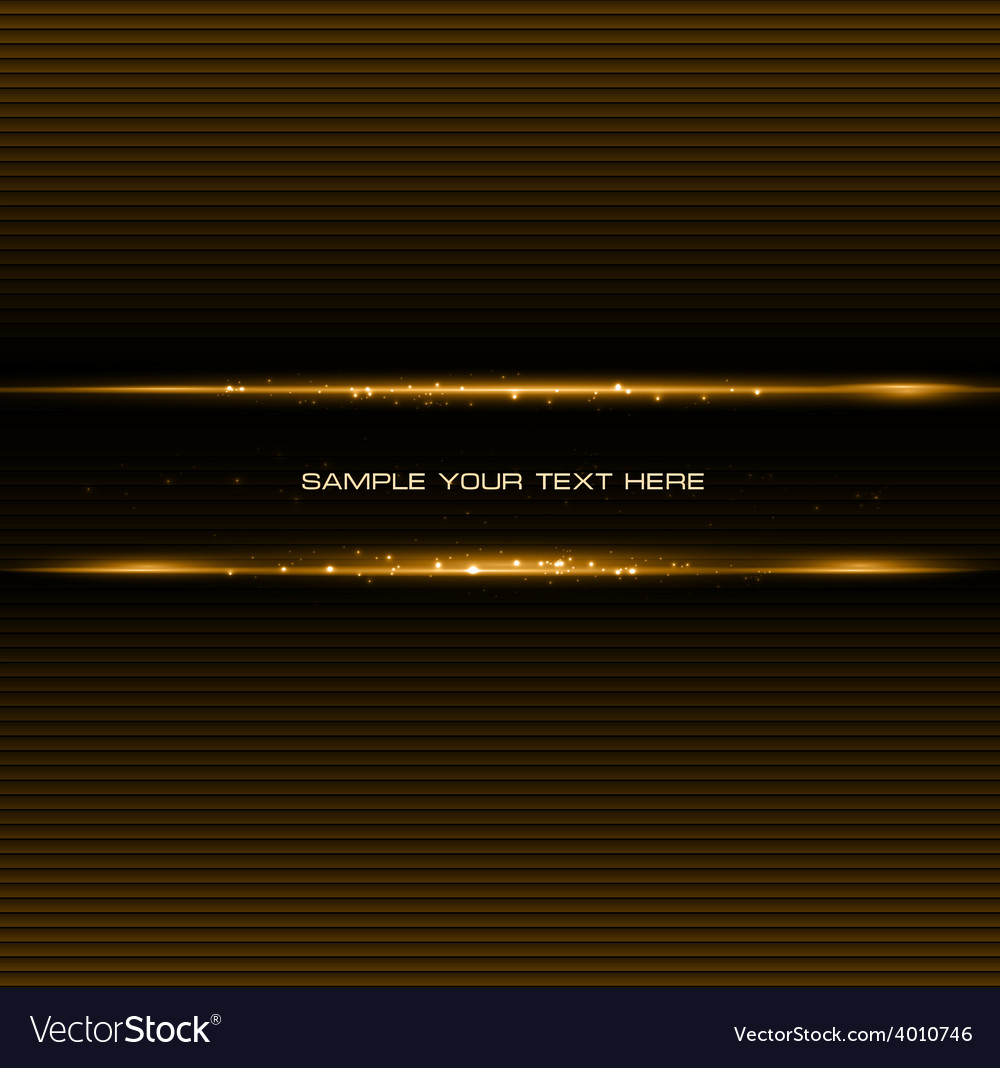 Abstract dark background with gold color light vector | Price: 1 Credit (USD $1)