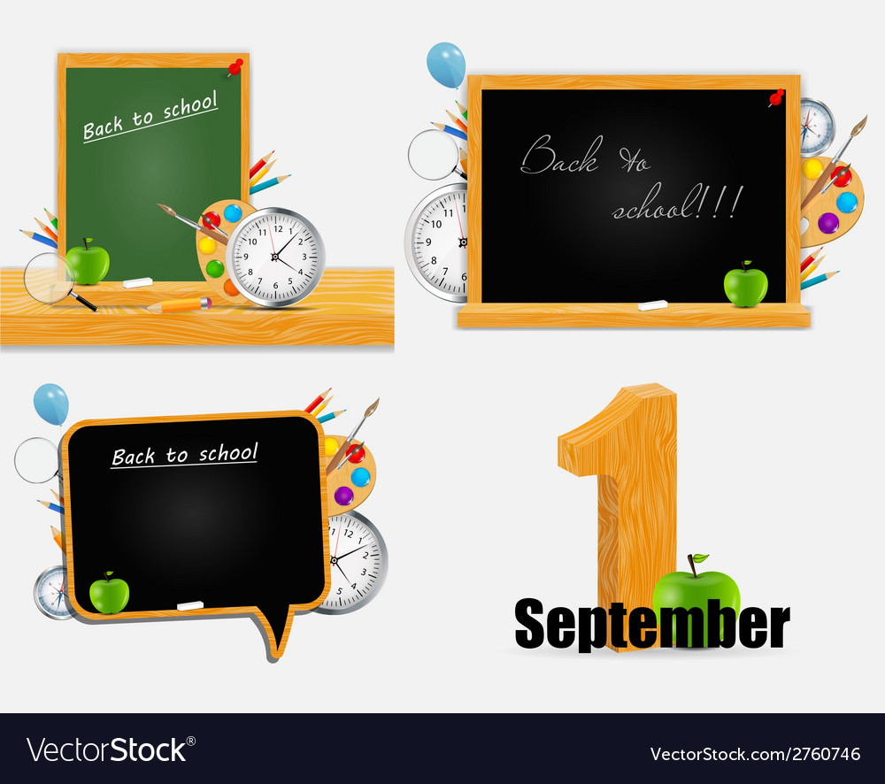 Back to school background set eps10 vector | Price: 1 Credit (USD $1)