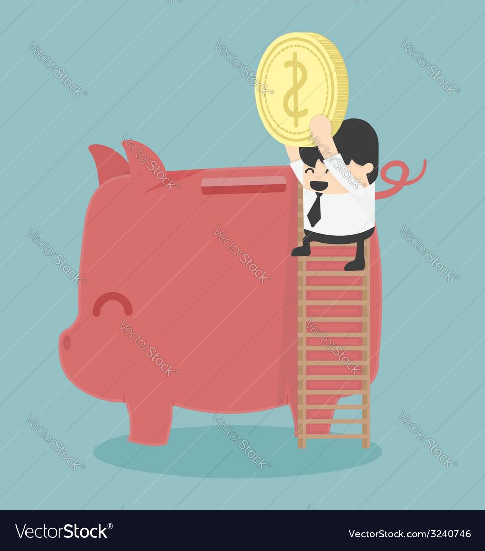 Businessman saving money vector | Price: 1 Credit (USD $1)