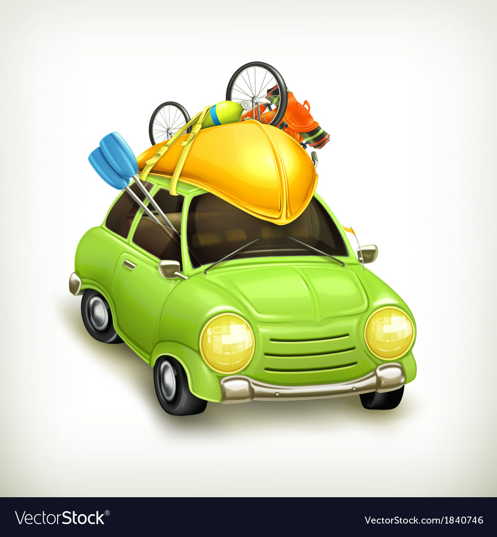 Car travel icon vector | Price: 3 Credit (USD $3)