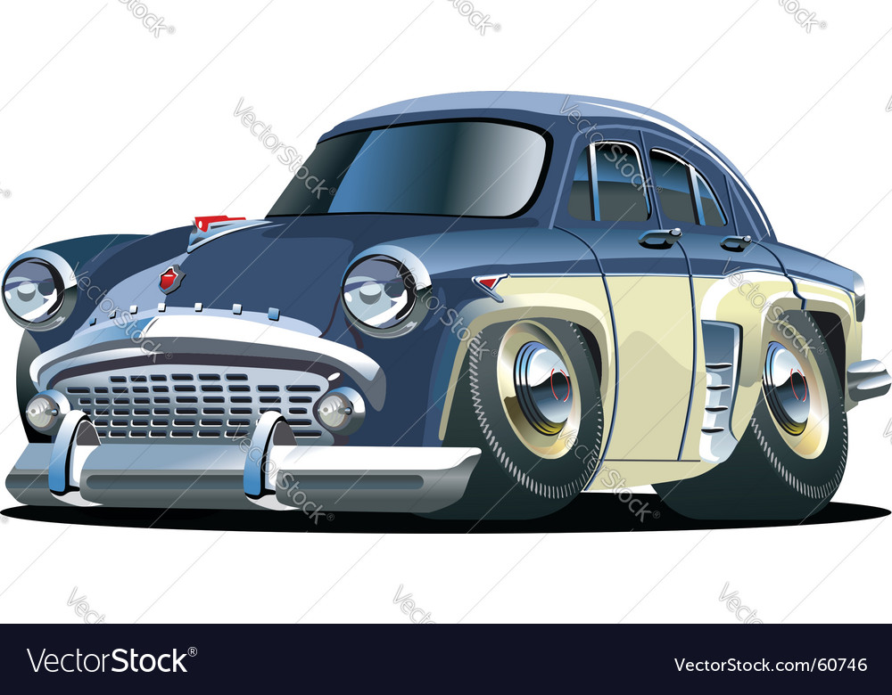 Cartoon retro car vector | Price: 3 Credit (USD $3)