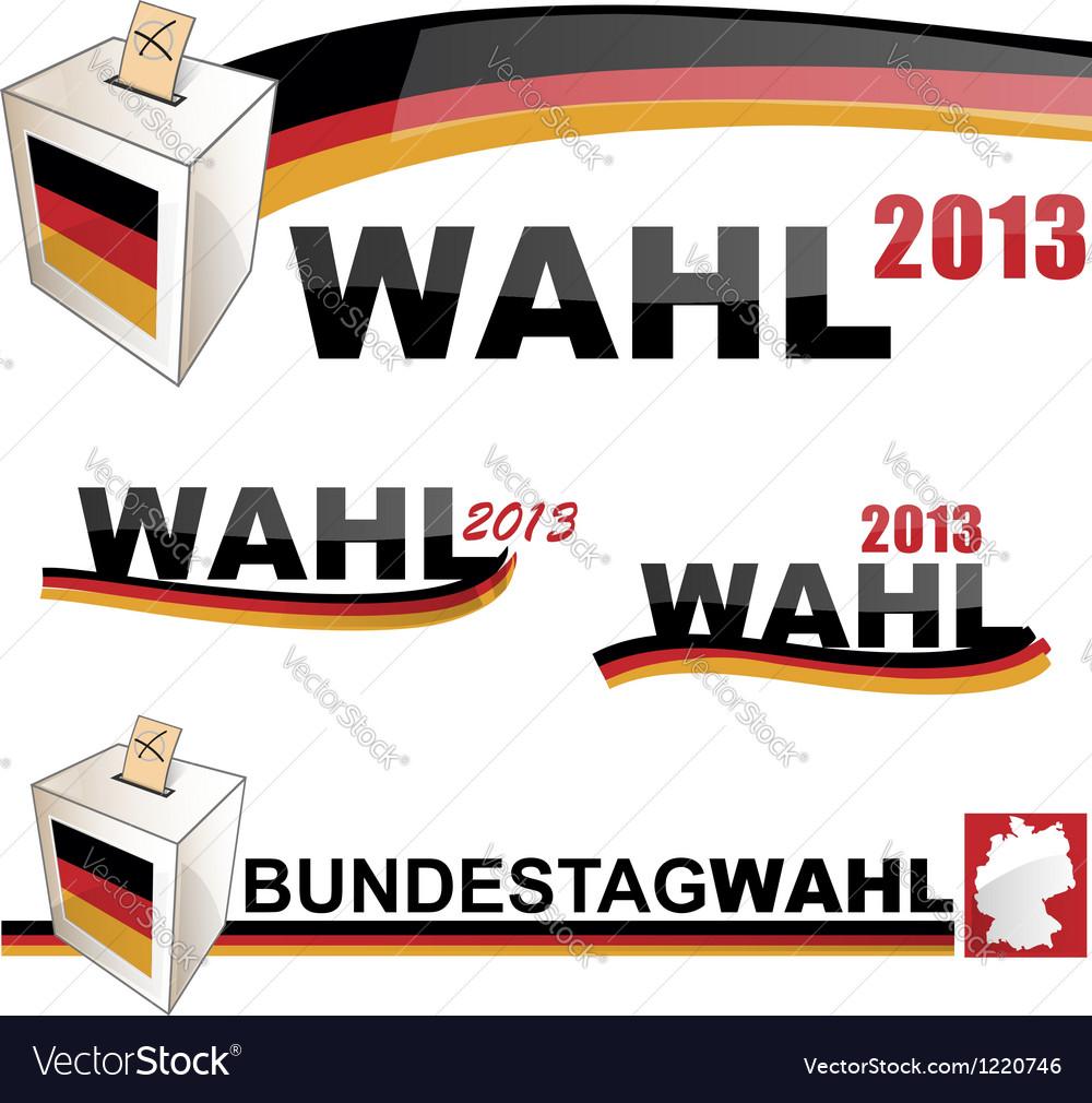 German elections vector | Price: 3 Credit (USD $3)