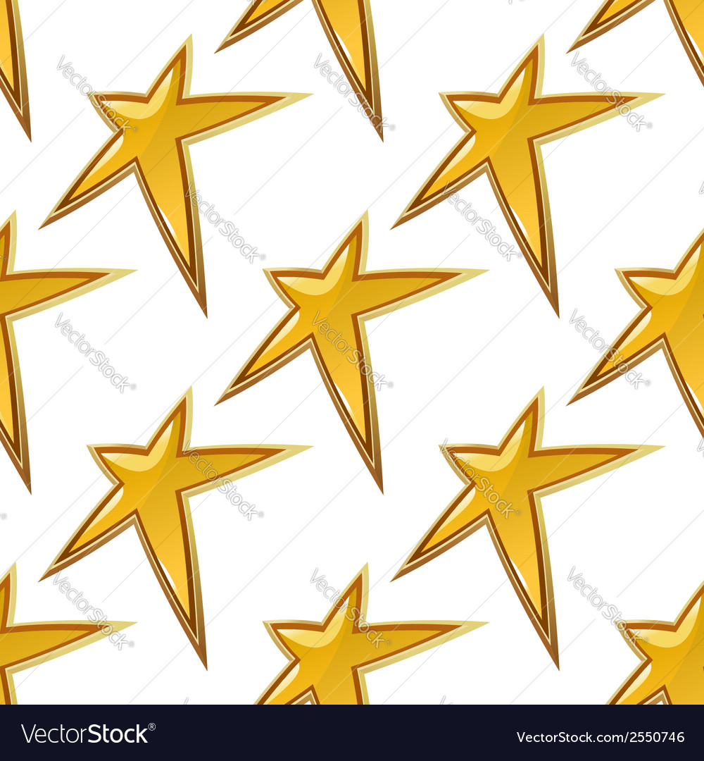 Golden stars seamless background pattern vector | Price: 1 Credit (USD $1)