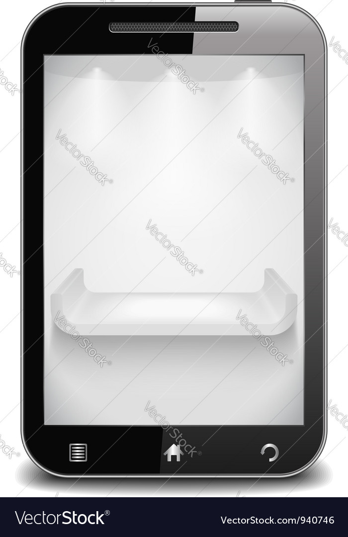 Smart phone with shelf on the screen vector | Price: 1 Credit (USD $1)