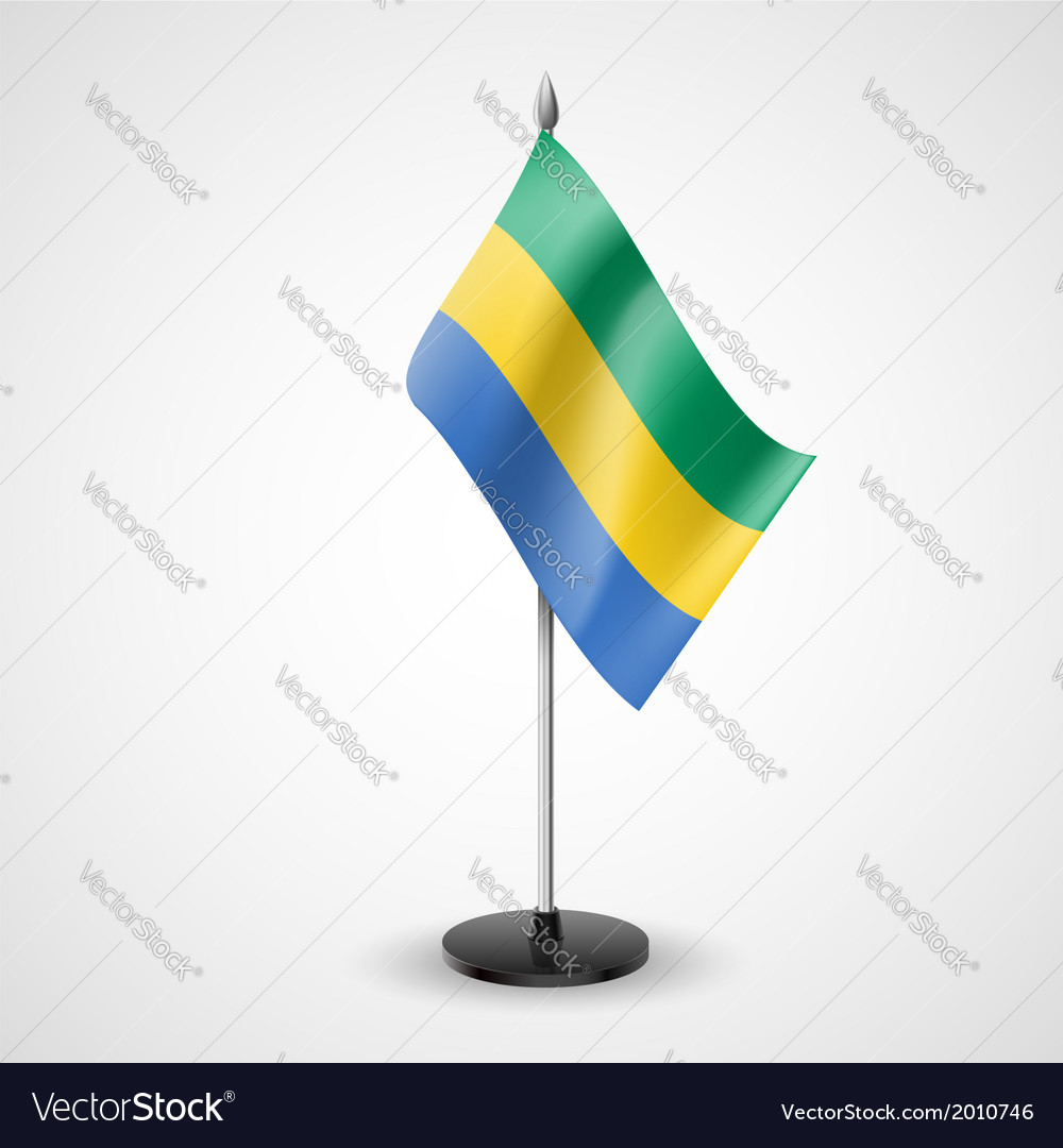 Table flag of gabon vector | Price: 1 Credit (USD $1)