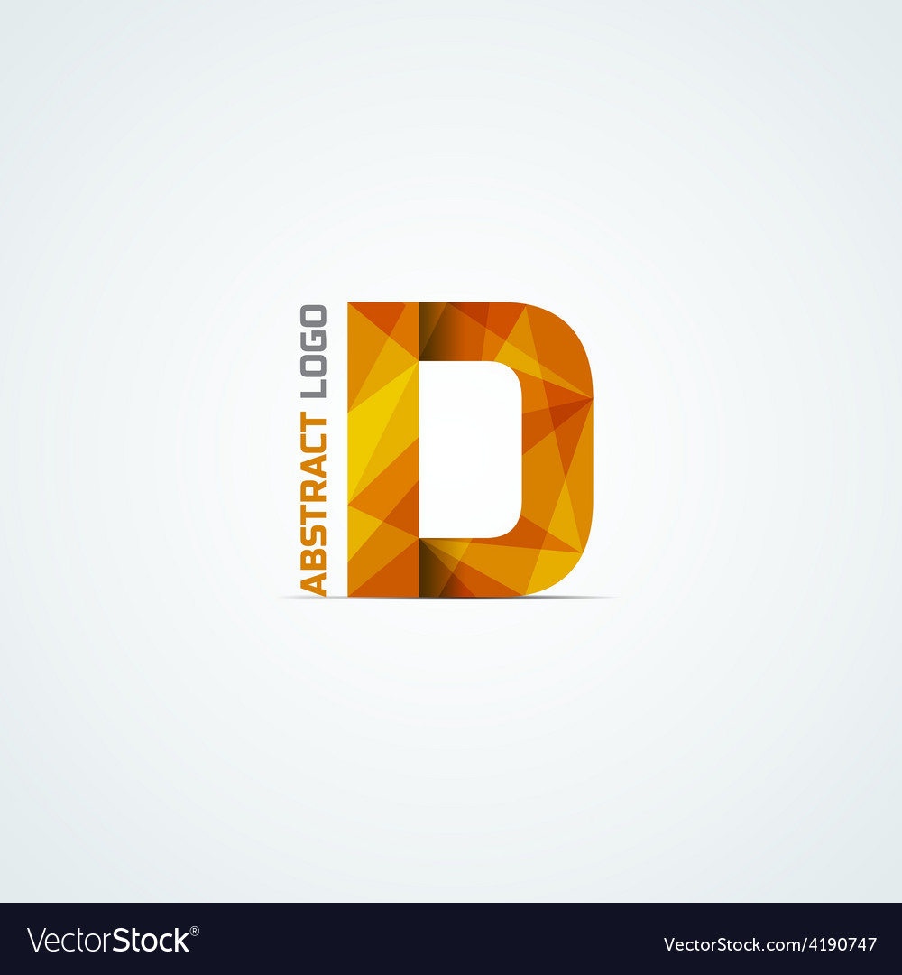 Abstract triangular letter d icon vector | Price: 1 Credit (USD $1)