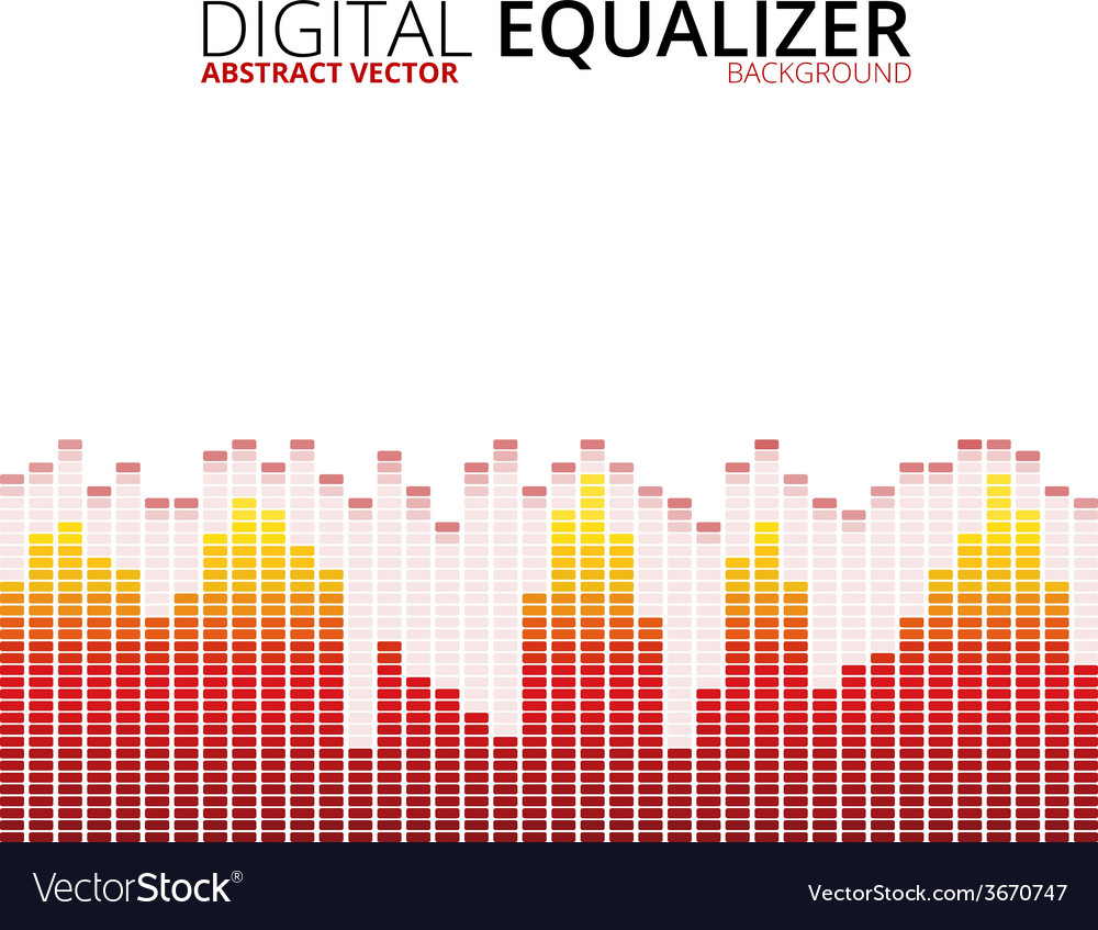 Graphic equalizer background vector | Price: 1 Credit (USD $1)
