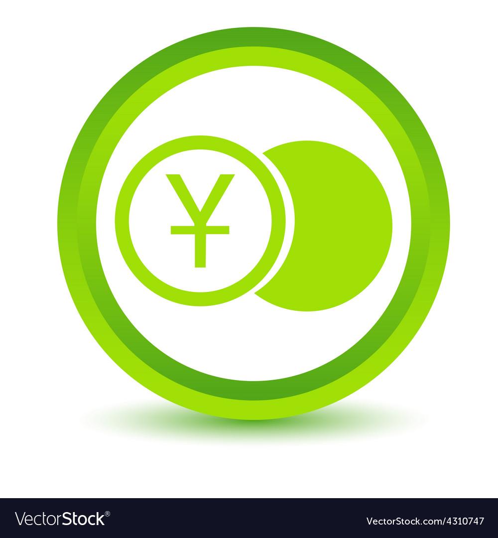 Green yen coin icon vector | Price: 1 Credit (USD $1)