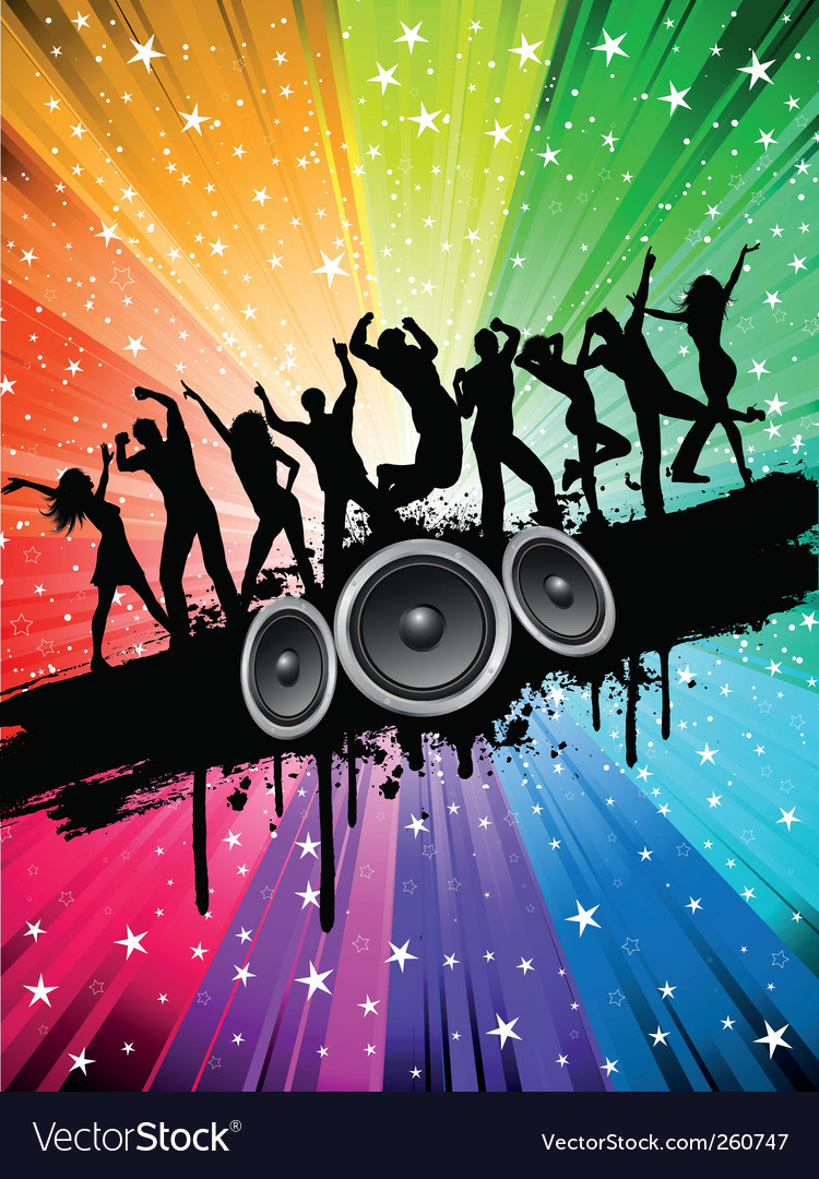 Grunge party background vector | Price: 1 Credit (USD $1)
