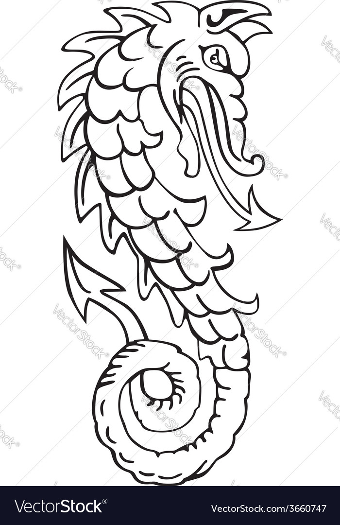 Heraldic dragon no4 vector | Price: 1 Credit (USD $1)
