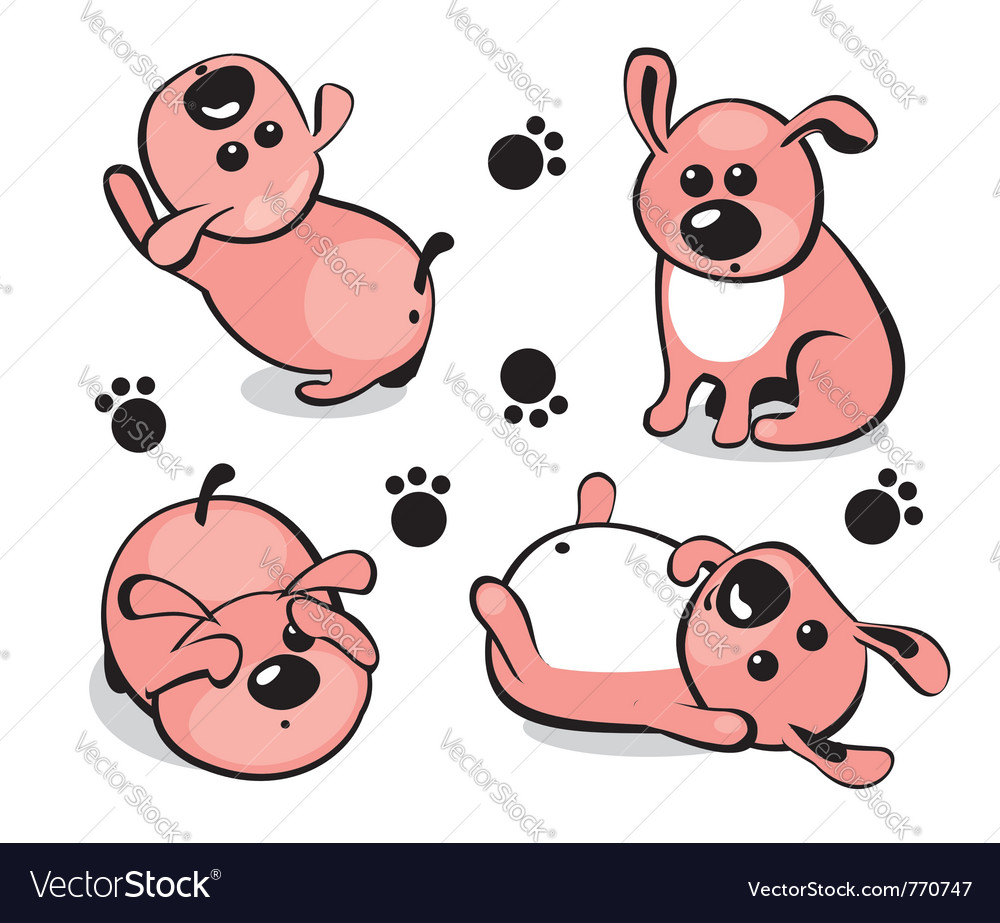 Little puppy vector | Price: 1 Credit (USD $1)