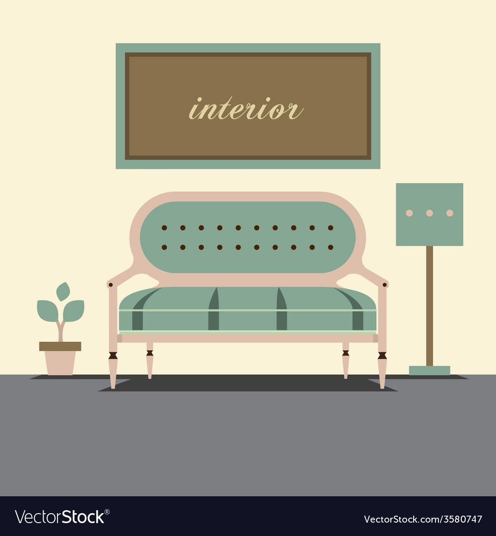 Modern design interior sofa vector   Price: 1 Credit (USD $1)