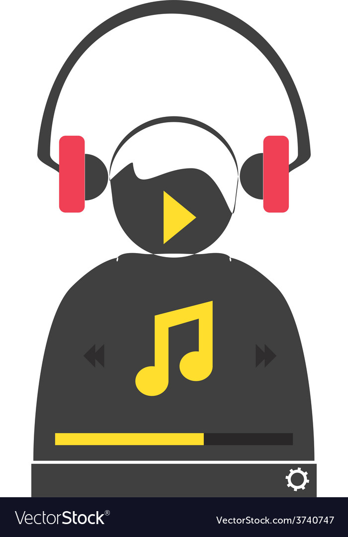 Music player 48 vector | Price: 1 Credit (USD $1)