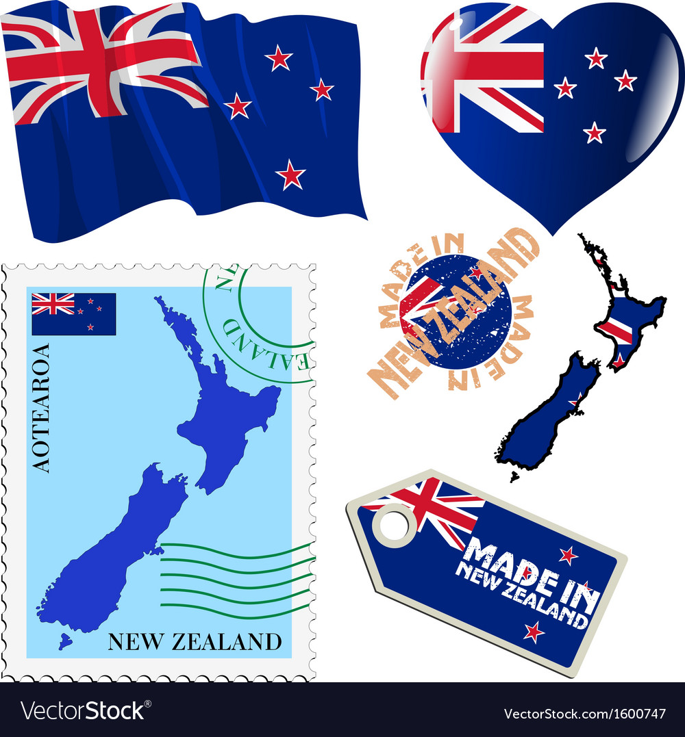National colours of new zealand vector | Price: 1 Credit (USD $1)