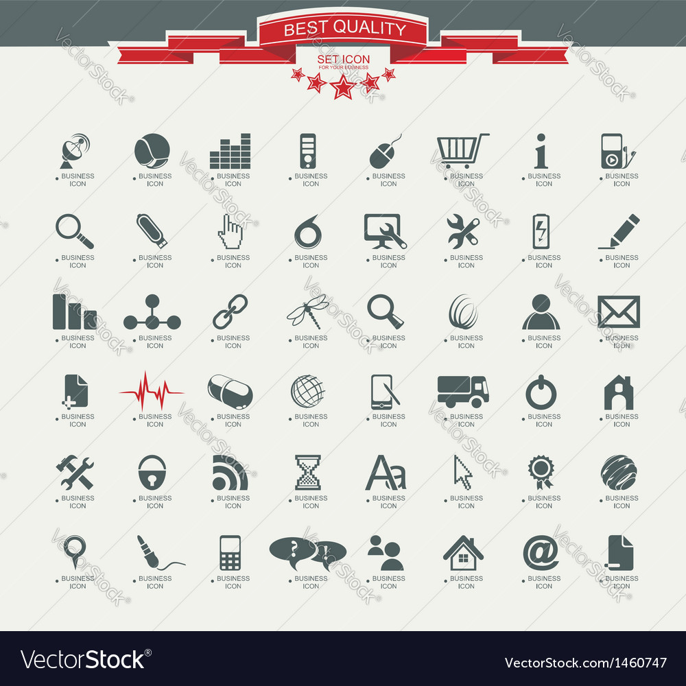 Quality icon set service medical media mail mobile vector | Price: 1 Credit (USD $1)