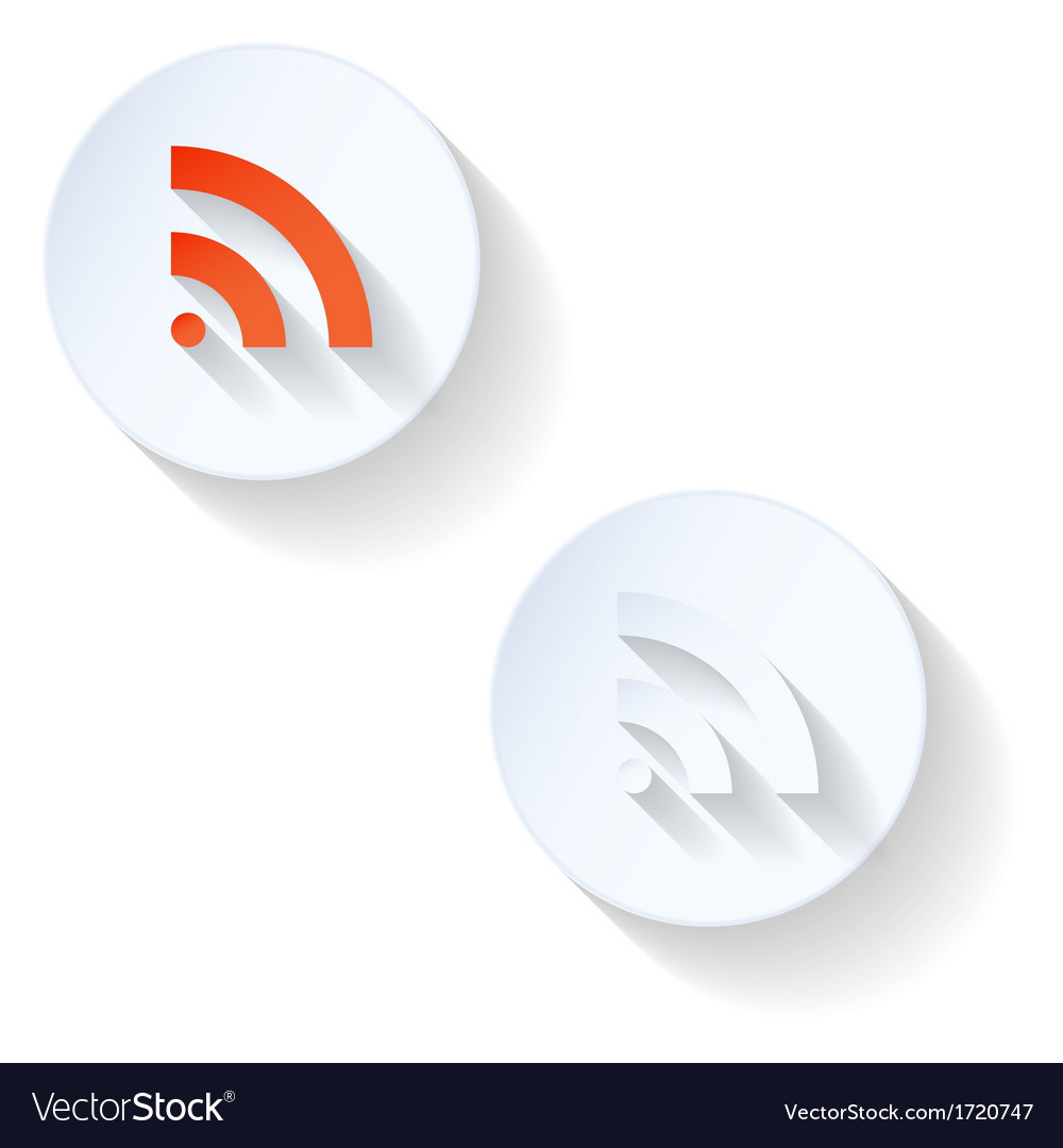 Rss flat icon vector | Price: 1 Credit (USD $1)