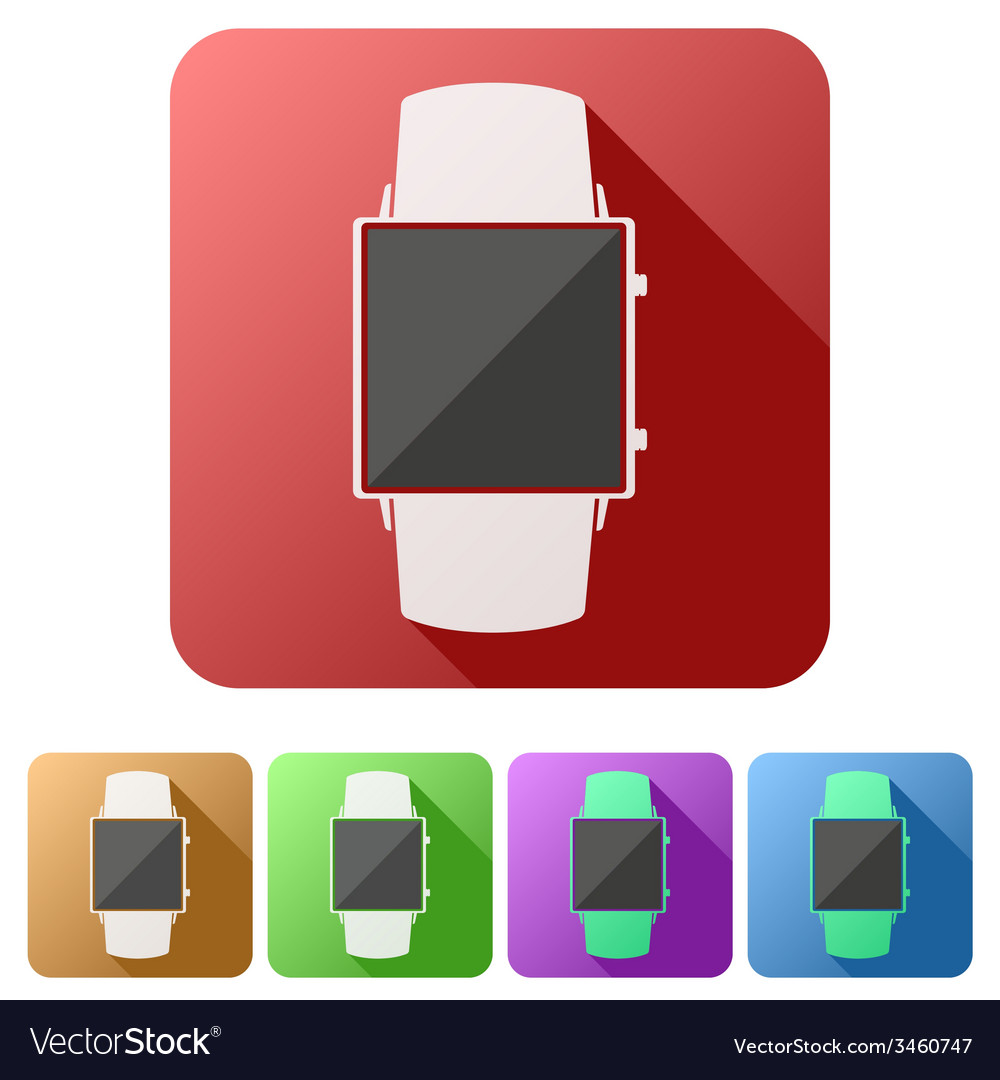 Set flat icons of original design smartwatch vector | Price: 1 Credit (USD $1)