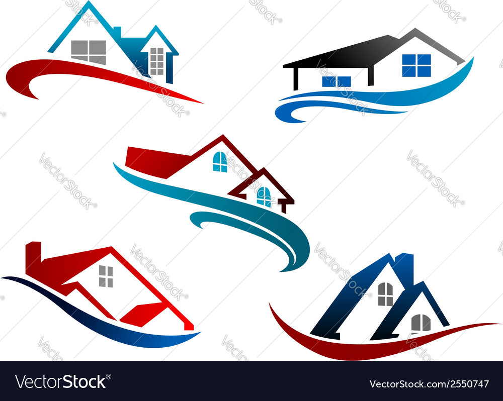 Set of real estate icons vector | Price: 1 Credit (USD $1)