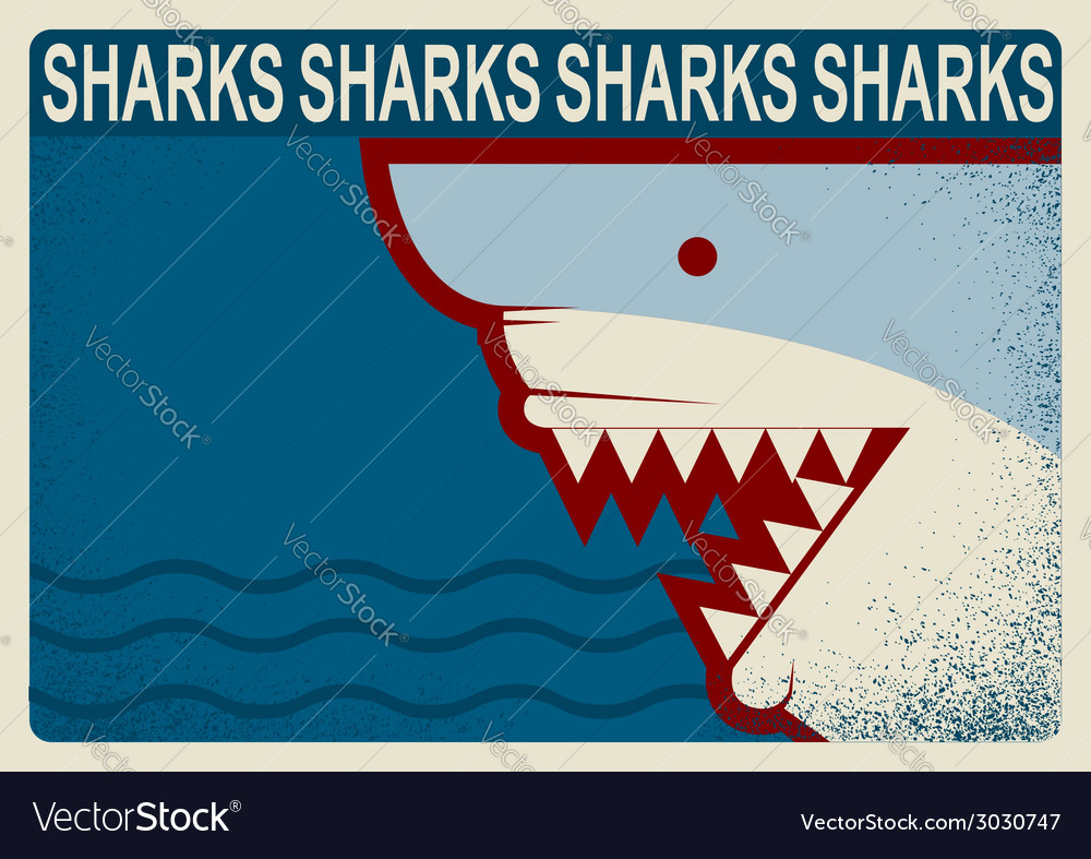 Shark poster background for design vector   Price: 1 Credit (USD $1)