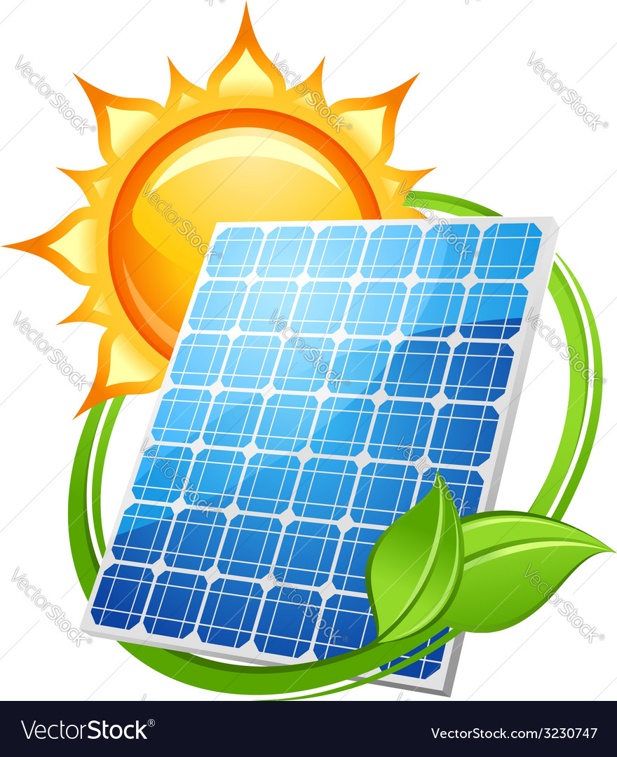 Solar energy and power concept vector | Price: 1 Credit (USD $1)