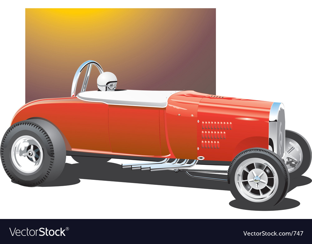 Vintage drag car vector | Price: 3 Credit (USD $3)