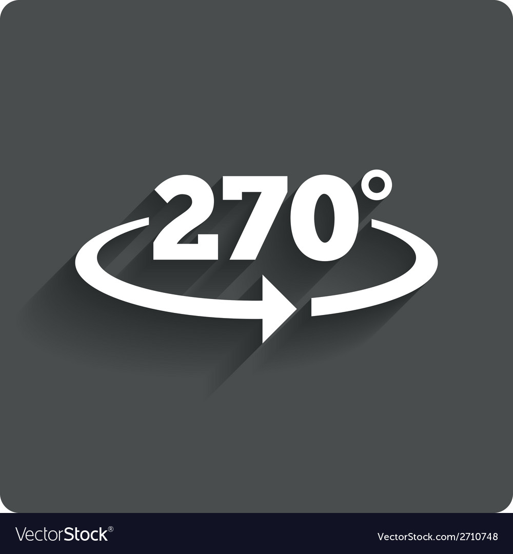 Angle 270 degrees sign icon geometry math symbol vector | Price: 1 Credit (USD $1)