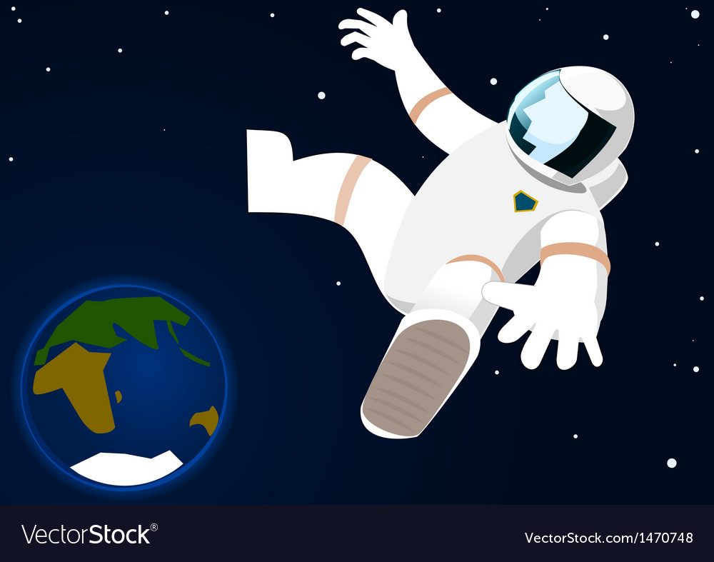 Astronaut in open space vector | Price: 1 Credit (USD $1)
