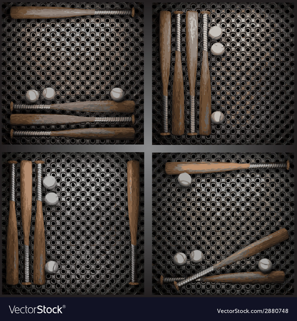 Baseball on metal wall vector | Price: 1 Credit (USD $1)