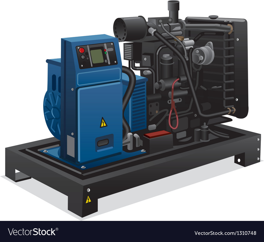 Diesel generator vector | Price: 3 Credit (USD $3)