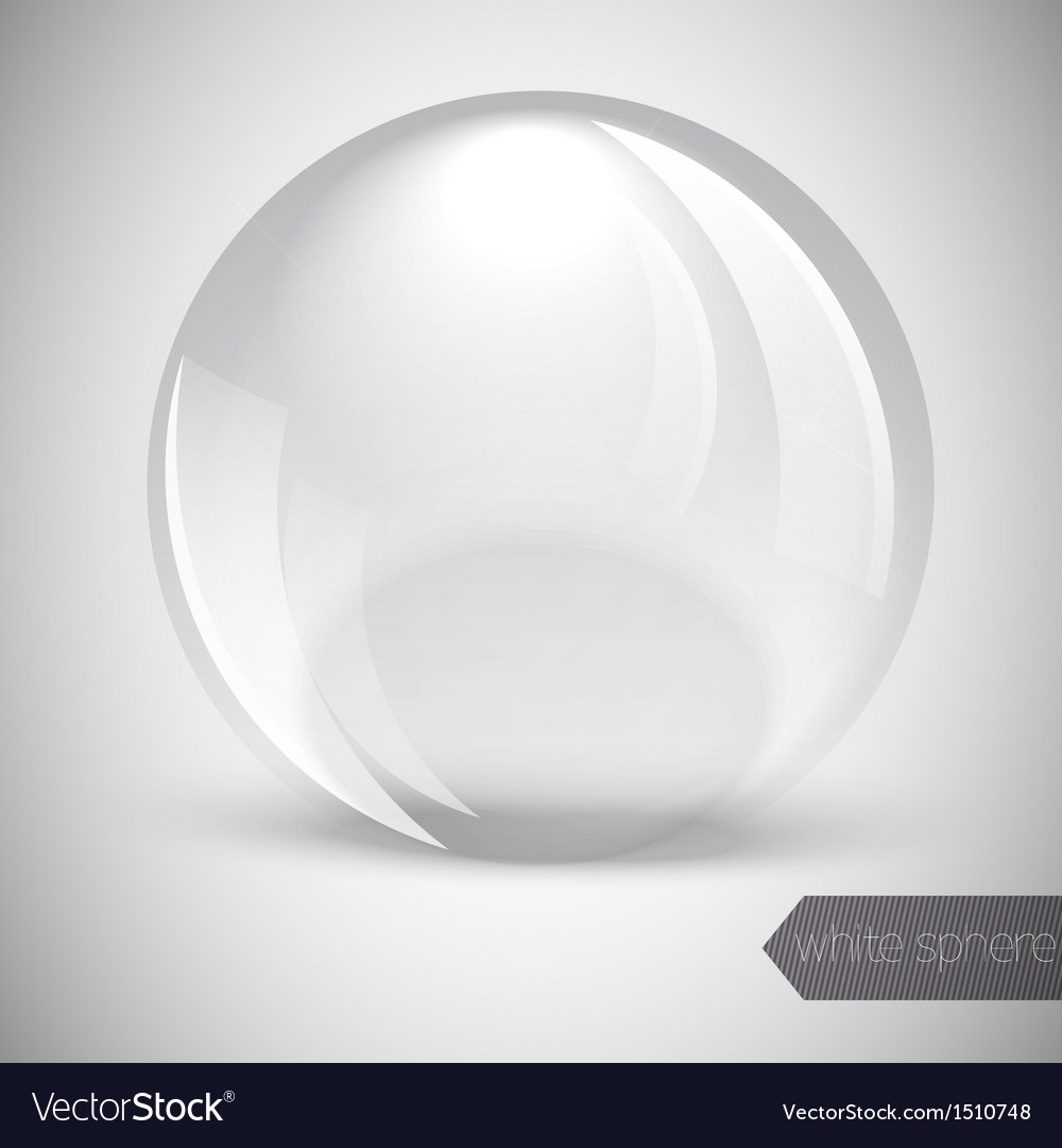 Glass glossy sphere vector | Price: 1 Credit (USD $1)