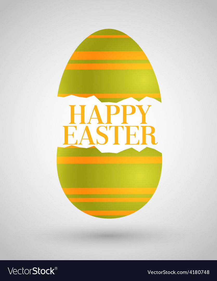 Happy easter background with egg vector | Price: 1 Credit (USD $1)