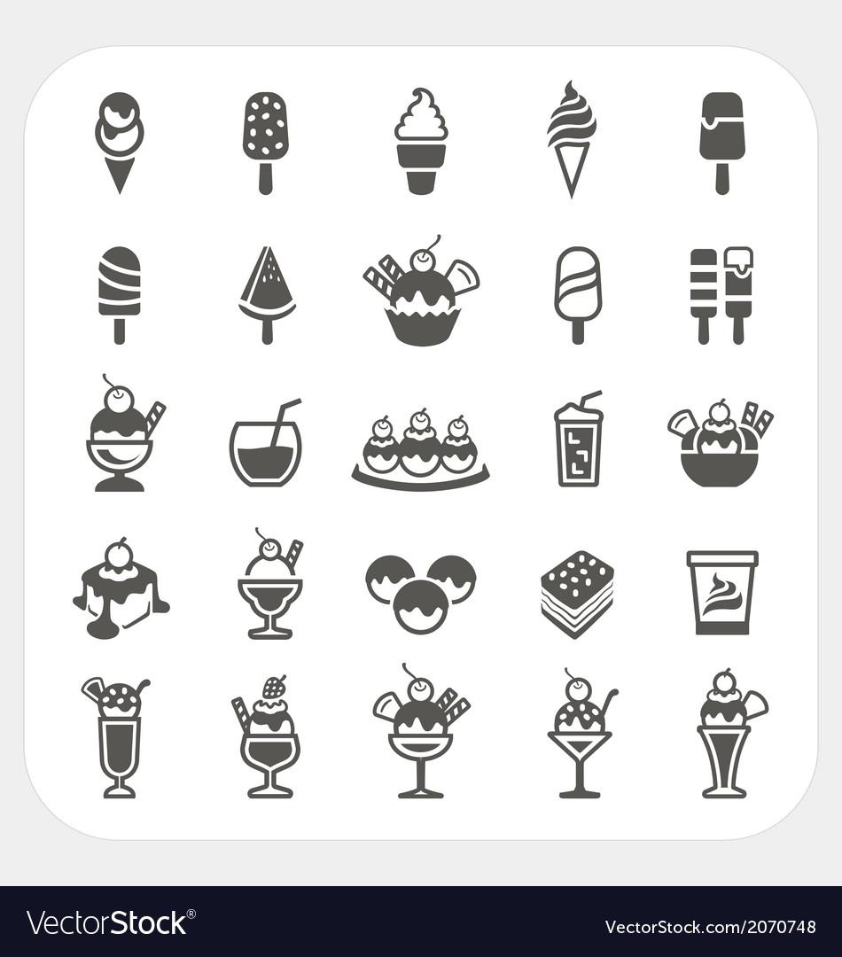 Ice cream icons set vector | Price: 1 Credit (USD $1)
