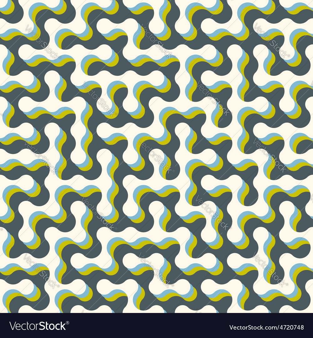Maze seamless pattern vector | Price: 1 Credit (USD $1)