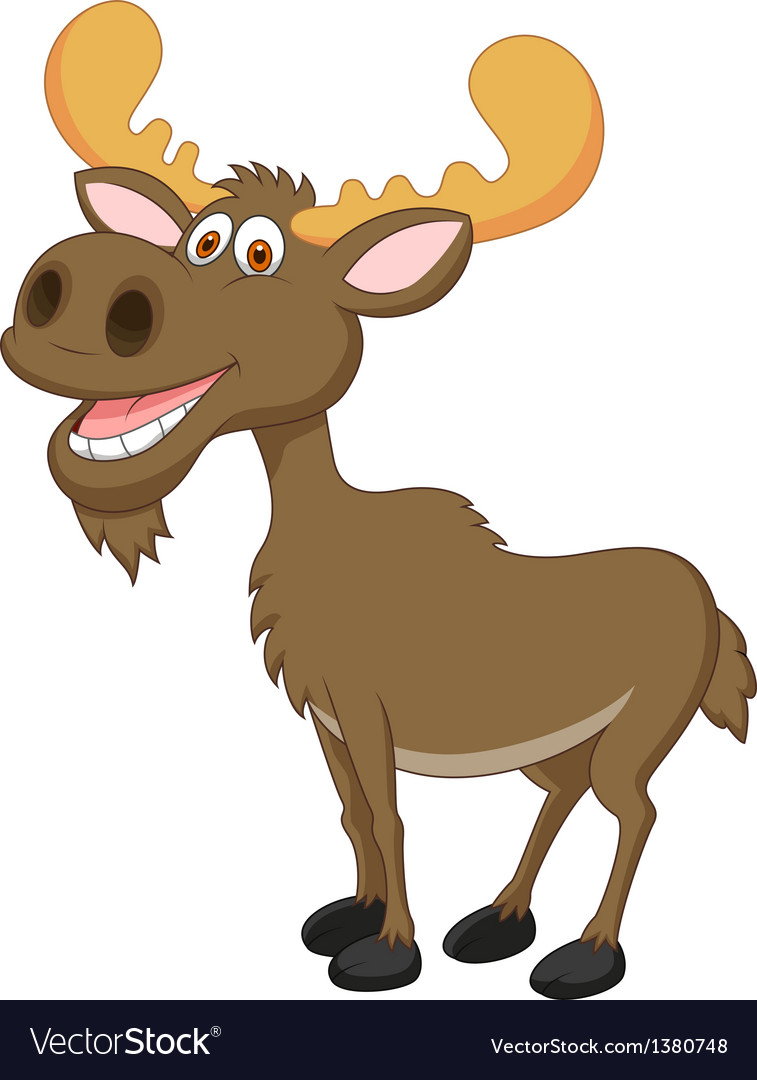 Moose cartoon vector | Price: 3 Credit (USD $3)